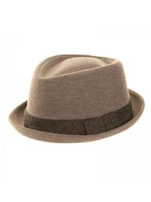 Wholesale Mens Pork Pie Diamond Crown Trilby Hat