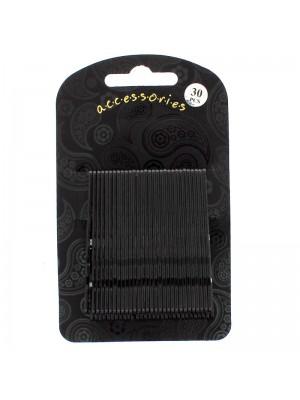 Hair Grip Set - Black (6.5cm)