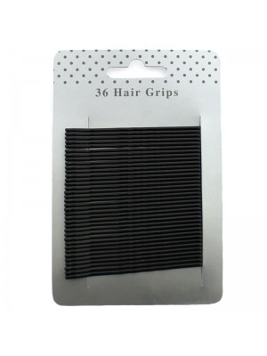 Hair Grips - Black (6.5cm)