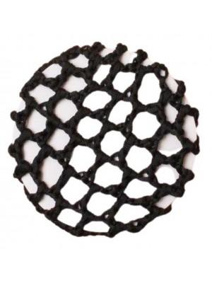 Black Shiny Bun Net - 10cm