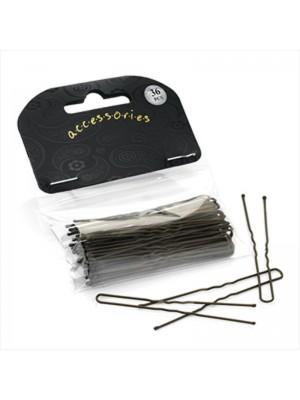 Wholesale Hair Pin Set - Brown (6.5cm)