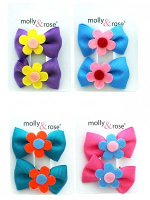 Molly & Rose Hair Clips - Assorted Colours