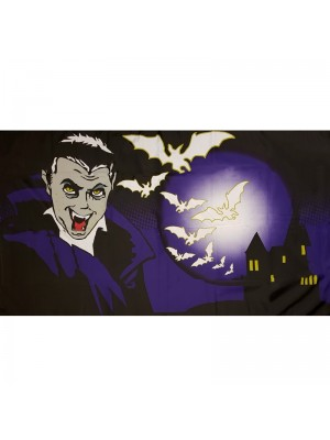 Halloween Bat and Vampire Theme 5ft x 3ft