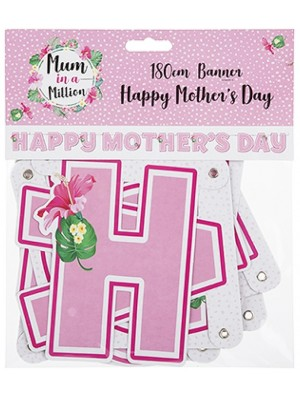 Wholesale Happy Mothers Day Card Banner - 180cm
