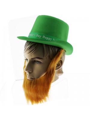 Happy St. Patrick's Day Top Hat With Beard