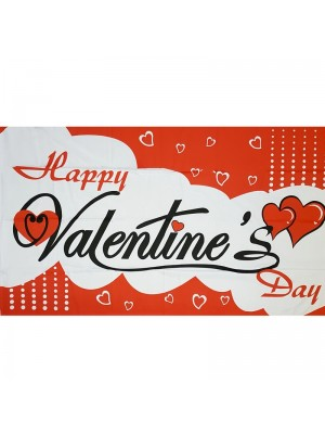 Happy Valentines Day Flag 5ft x 3ft