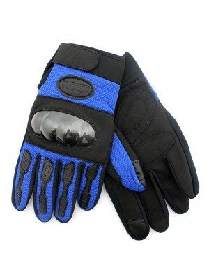 Hard Knuckle Touch Screen Gloves - Black and Blue