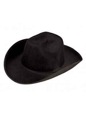 Cowboy Hat - Black (Adult Size)