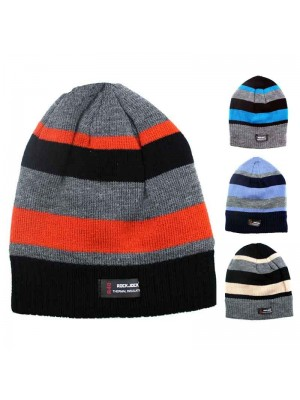 Wholesale Childrens R40 Lined Thermal Beanie Striped Beanie Hats