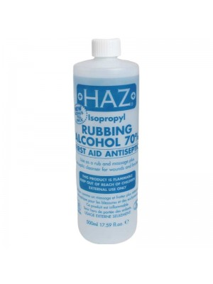 Wholesale Haz Isoprophyl Rubbing Alcohol 70% - 500ml