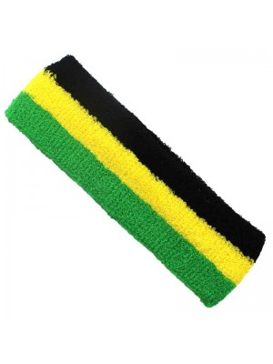 Wholesale Head Sweatbands - Jamaica Colours