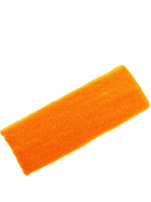 Head Sweatbands Neon Orange (Wide 20cm x 7cm)