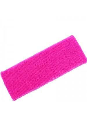 Head Sweatbands Neon Pink (Wide 20cm x 7cm)