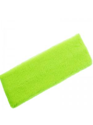 Head Sweatbands Neon Yellow (Wide 20cm x 7cm)