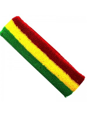Wholesale Head Sweatbands - Rasta Colours