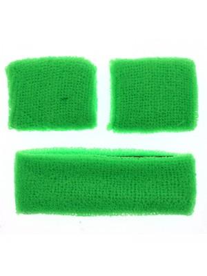 Head & Wrist Sweatbands - Neon Green