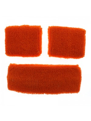 Head & Wrist Sweatbands - Neon Orange