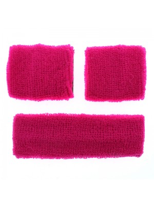 Head & Wrist Sweatbands - Neon Pink