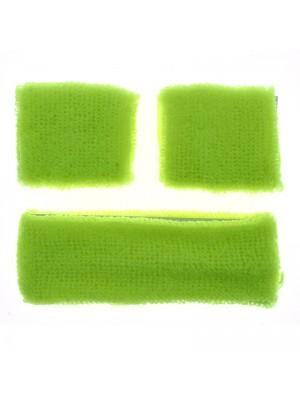 Head & Wrist Sweatbands - Neon Yellow