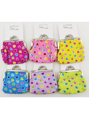 Heart Design Assorted Clasp Purse