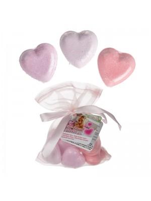 Wholesale Heart Shaped Bath Fizzers - Assorted Colours