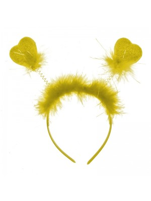 Heart Shaped Deely Boppers - Yellow