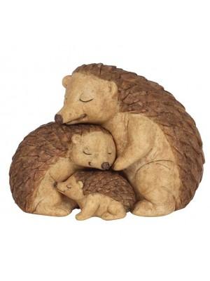Wholesale Hedgehog Family Ornament - 9cm