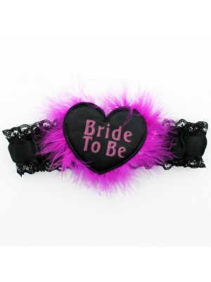 Hen Party Garter Bride To Be - Black & Pink