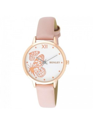Wholesale Henley Ladies Butterfly Design Fashion Strap Watch - Pink