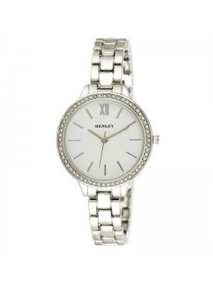 Wholesale Henley Ladies Minimal Diamante Watch - Silver