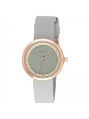 Wholesale Henley Ladies Slimline Sports Silicone Strap Watch - Grey/Rose Gold