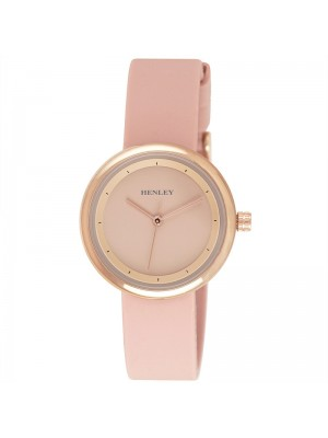 Wholesale Henley Ladies Slimline Sports Silicone Strap Watch - Pink/Rose Gold
