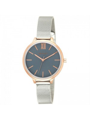 Wholesale Henley Ladies Two-Tone Mesh Bracelet Watch - Blue/Gold