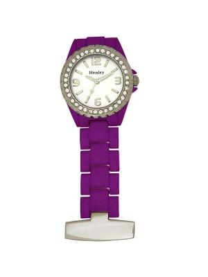 Henley Fashion Fob Watch - Purple