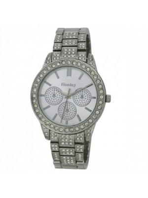 Henley Ladies 3 Dial Design Watch - Silver