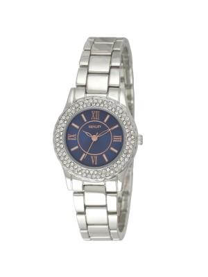 Henley Ladies Metal Bracelet Watch - Silver & Blue