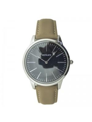 Henley Mens Classic Fashion Watch - Silver & Beige