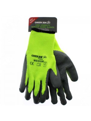 Wholesale High Vis Winter Work Gloves - Medium
