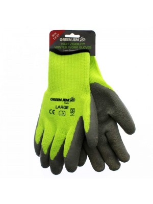Wholesale High Vis Winter Work Gloves - Large