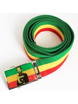 Men's Canvas Belt - HIM Haile Selassie I Print