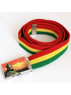 Men's Canvas Belt - HIM Haile Selassie I Ethiopian Emperor