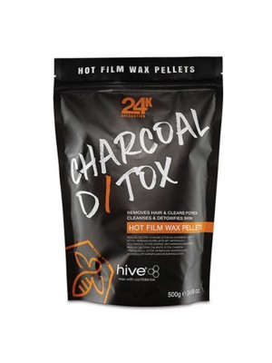 Wholesale Hive of Beauty 24k Charcoal D/Tox Hot Film Wax Pellets