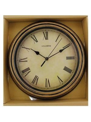 Wholesale Hometime Wooden Style Clock - 30cm