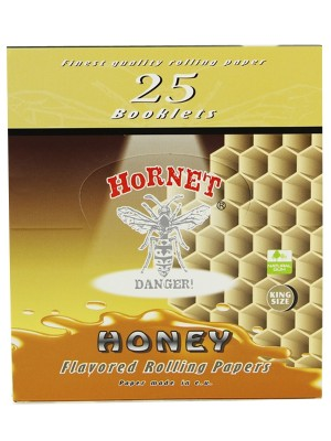 Wholesale Hornet Flavoured King Size Rolling Papers - Honey