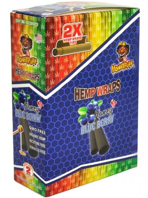 Wholesale HoneyPuff Flavoured H-Wraps - Blueberry