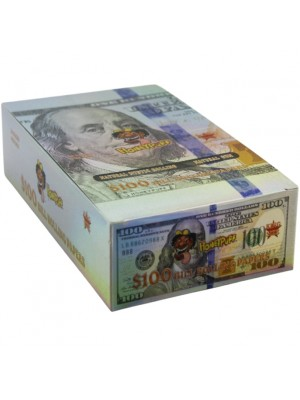 Wholesale HoneyPuff $100 Bill King Size R-Paper - 24 Leaves