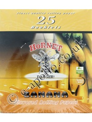 Wholesale Hornet Flavoured King Size Rolling Papers - Banana