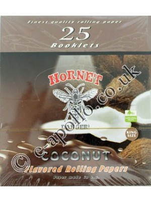 Wholesale Hornet Flavoured King Size Rolling Papers - Coconut