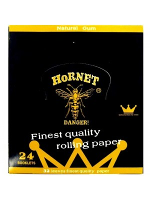 Wholesale Hornet 24 Booklets Black Organic Hemp King Size Slim Rolling Papers + Tips