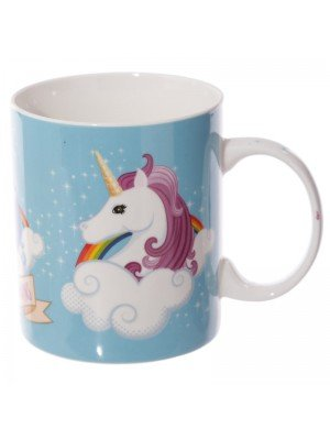 """I don't Believe in Humans"" Bone China Mug - Unicorn Print"